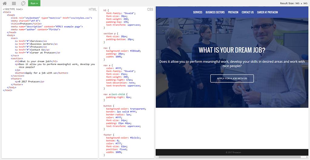 HTML, CSS ja niiden visuaalinen näkymä