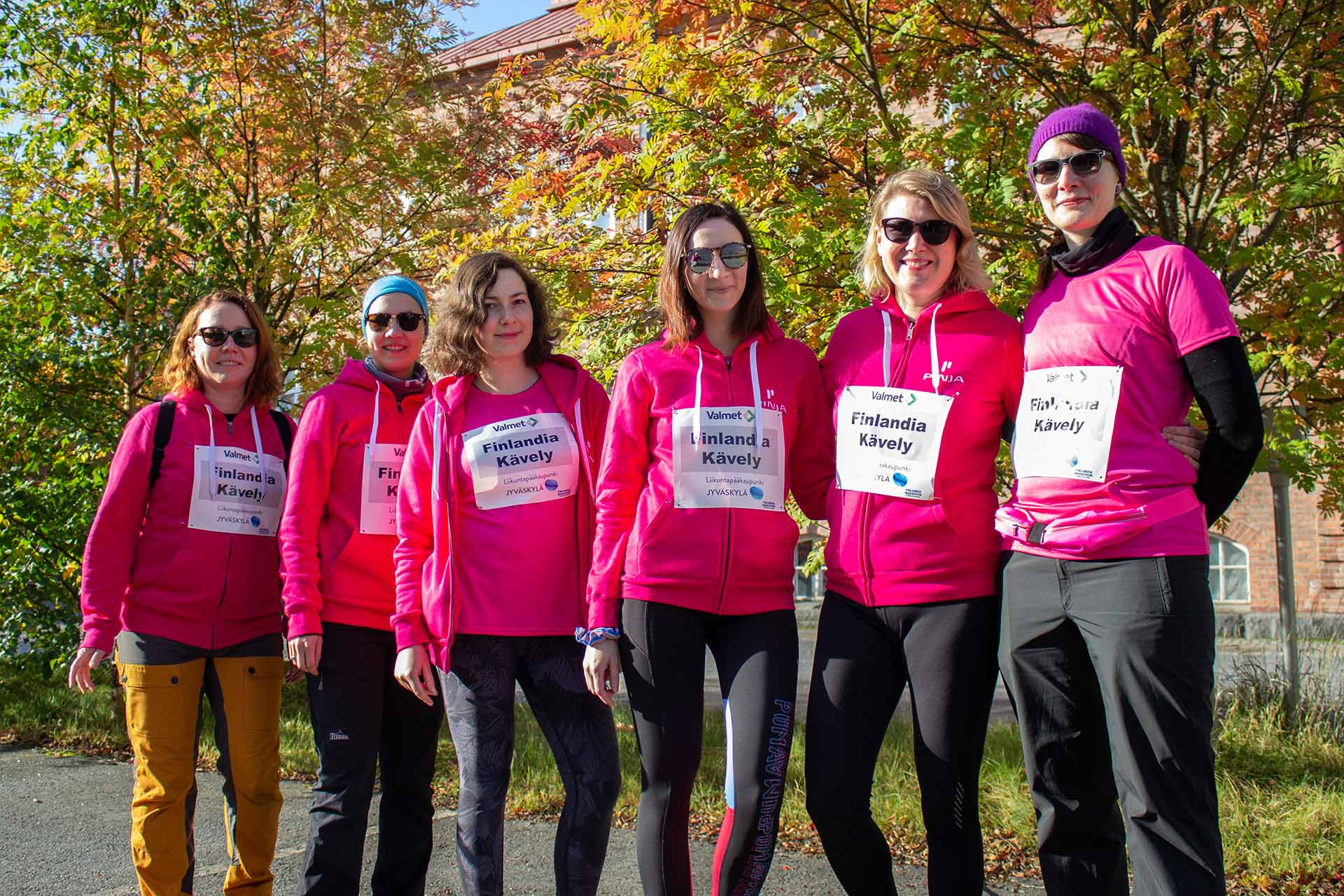 Pinjattaret ennen Finlandia Marathonia